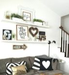 50 ++ Amazing Living Room Designs With Floating Shelves 49