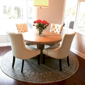 Round Dining Room Tables Decoration Ideas 48