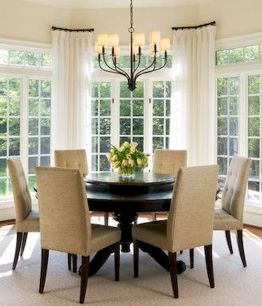 Round Dining Room Tables Decoration Ideas 95