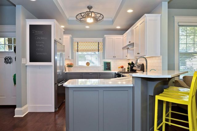 Ideas for Wall Paint Color Combination in the Kitchen 3