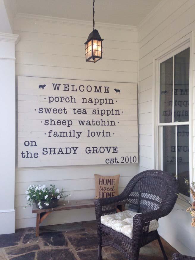 Rustic Sign Farmhouse Decor #farmhouse #rustic #porch #decor #decorhomeideas