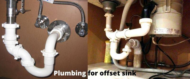 maintain plumbing for offset kitchen sink