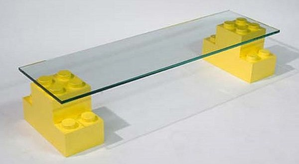 lego glass table
