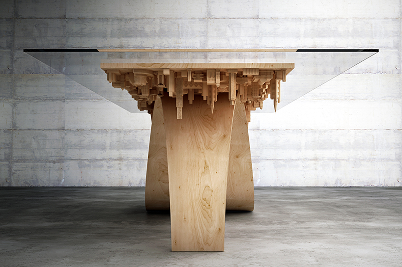 Mousarris Wave City Dining Table front view