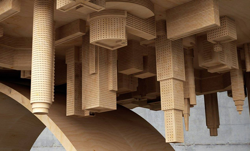Mousarris Wave City Dining Table skyscrapper close up