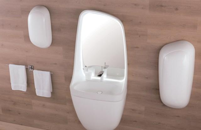 Rainbow bathroom amenities