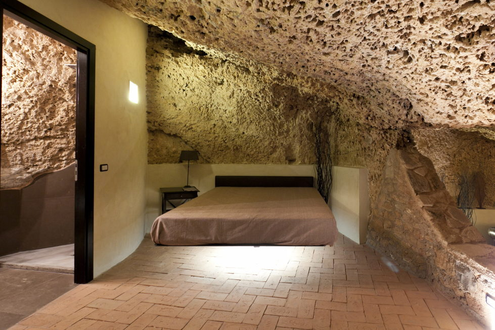 Cave House Sicily Italy bed 2