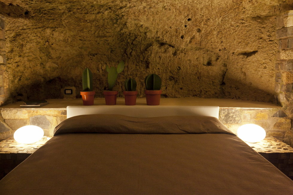 Cave House Sicily Italy bed