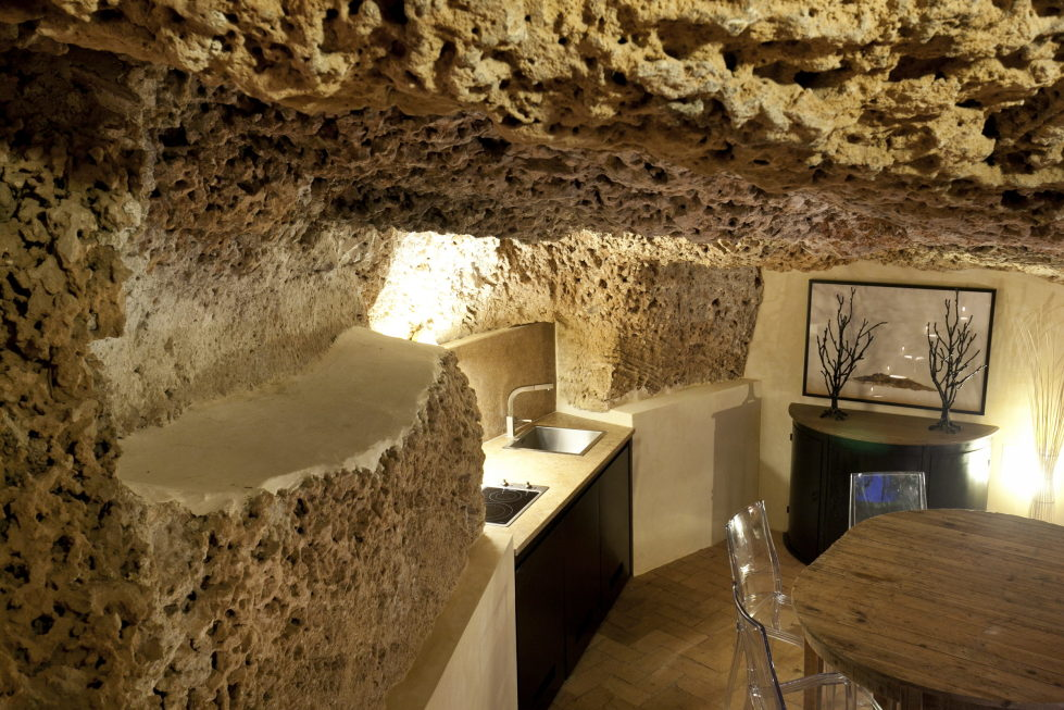 Cave House Sicily Italy kitchen