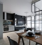 Kiev Compact Apartment Features Glass-Enclosed Bedroom