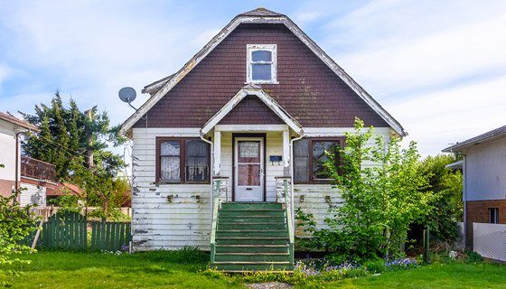 Distressed home to be flipped and sold.