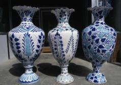 Handcrafted ceramic vases, Hyderabad, Pakistan