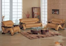 Leather-wood-furniture