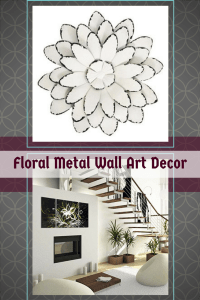 Metal Flower Wall Art -Floral Metal Home Wall Art Decor