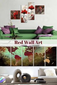 Daring, Bold and Modern Red Wall Art | Home Wall Art Decor