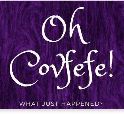 Oh Covfefe What just Happened - Purple Home wall art decor