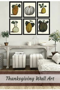 Thanksgiving Wall Art - Warm, Festive, and Attractive Holiday Wall ...