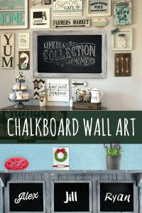 Vintage Chalkboard Wall Art