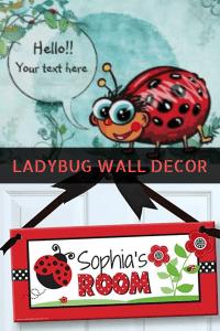 Ladybug wall art -