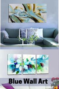 Blue Wall Art - Blue Home Wall Art Decor