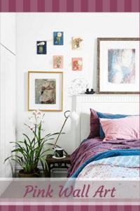 Pink Wall Art - Pink Home Wall Art Decor