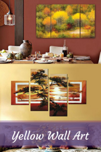 Yellow Wall Art - yellow home wall art decor