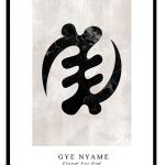 Gye nyame black marble
