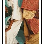 traditional african women wall art