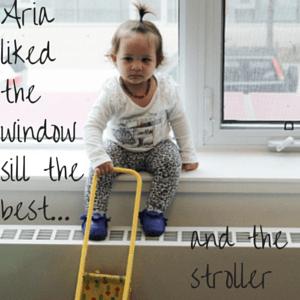 baby on windowsill