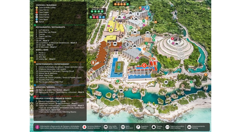 Hotel Xcaret Map | Hotel Xcaret Review: Everything You Need to Know