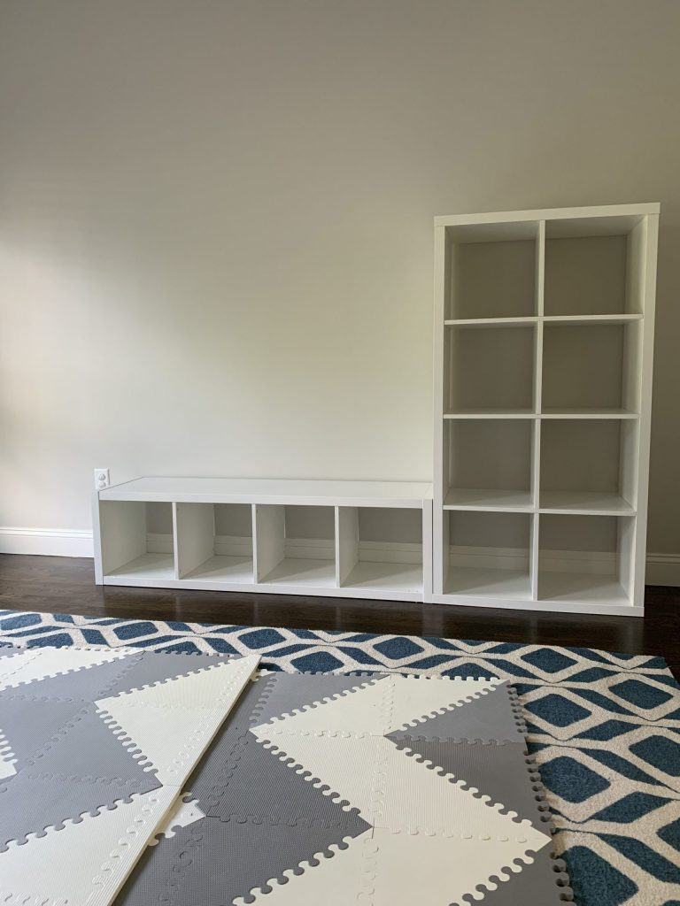 ikea kallax shelves playroom