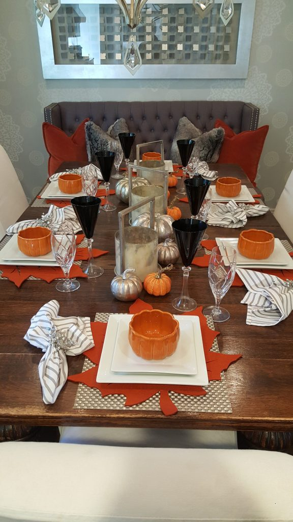 Contemporary Fall Or Thanksgiving Table Setting Home