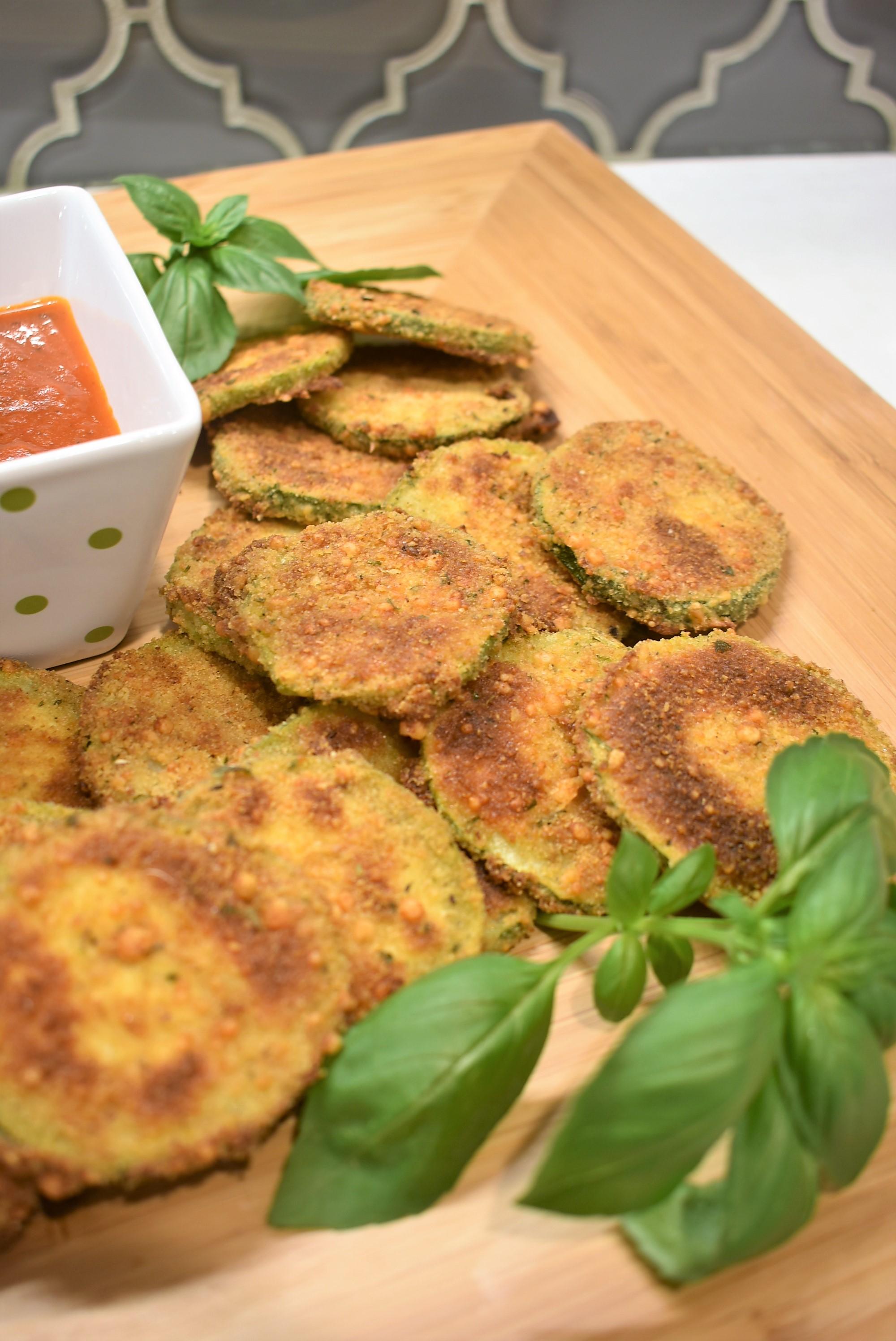 Crispy Italian Baked Parmesean Zucchini