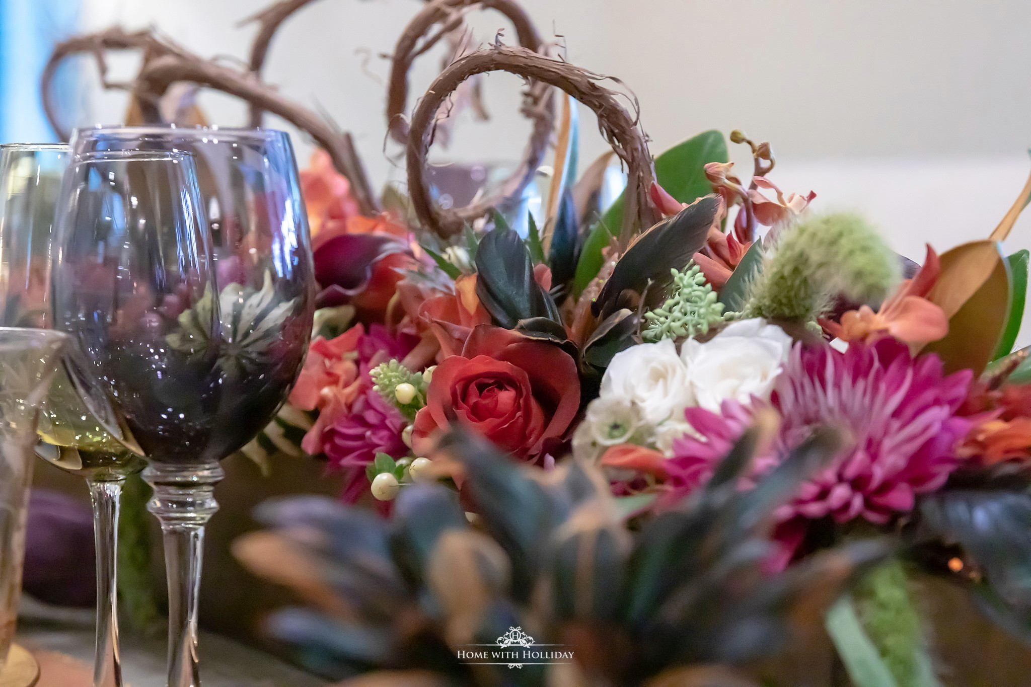 My Jewel-toned Thanksgiving Table Setting - Home with Holliday