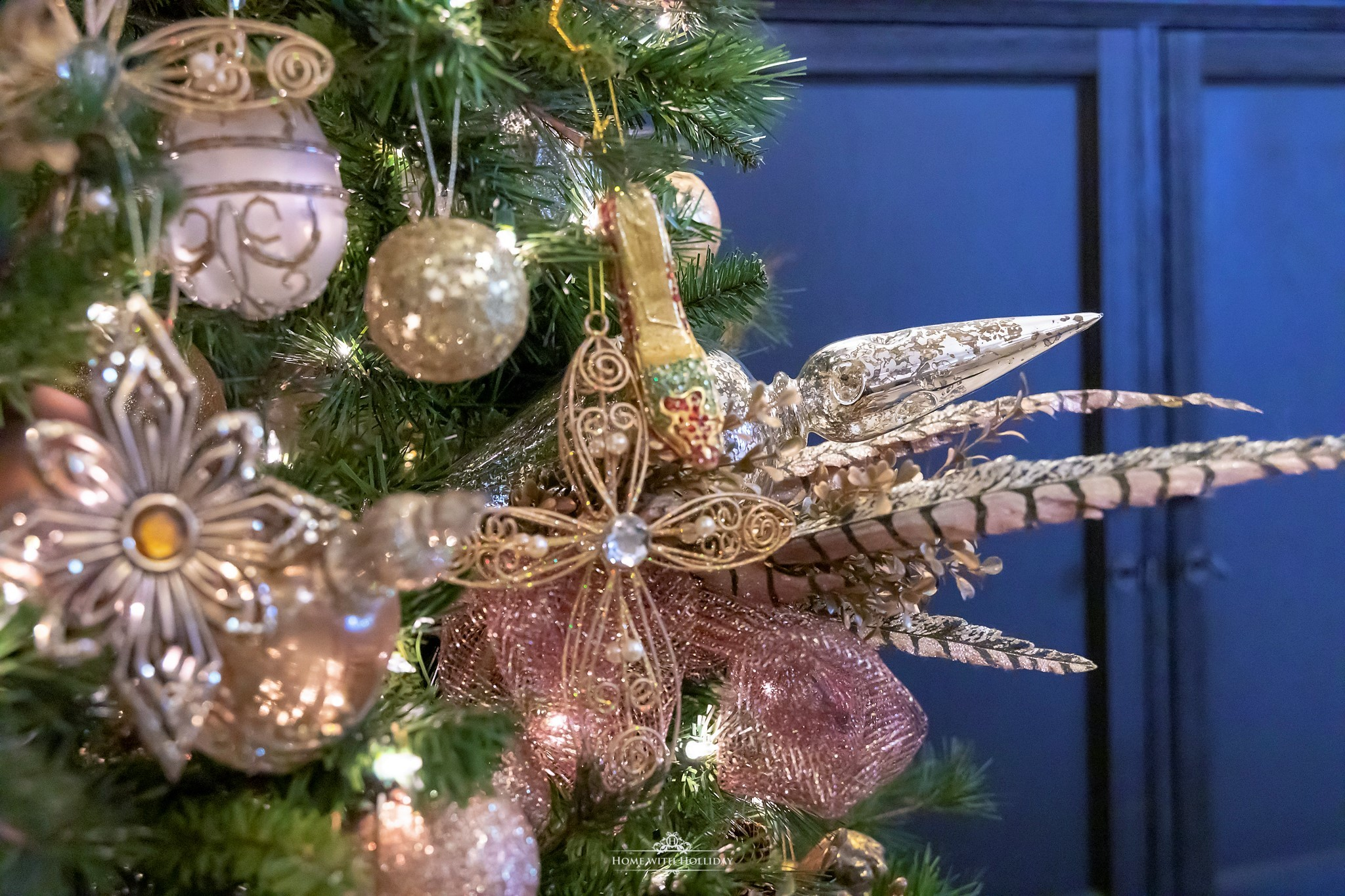 Details of my Mixed Metallic Christmas Tree - Home with Holliday