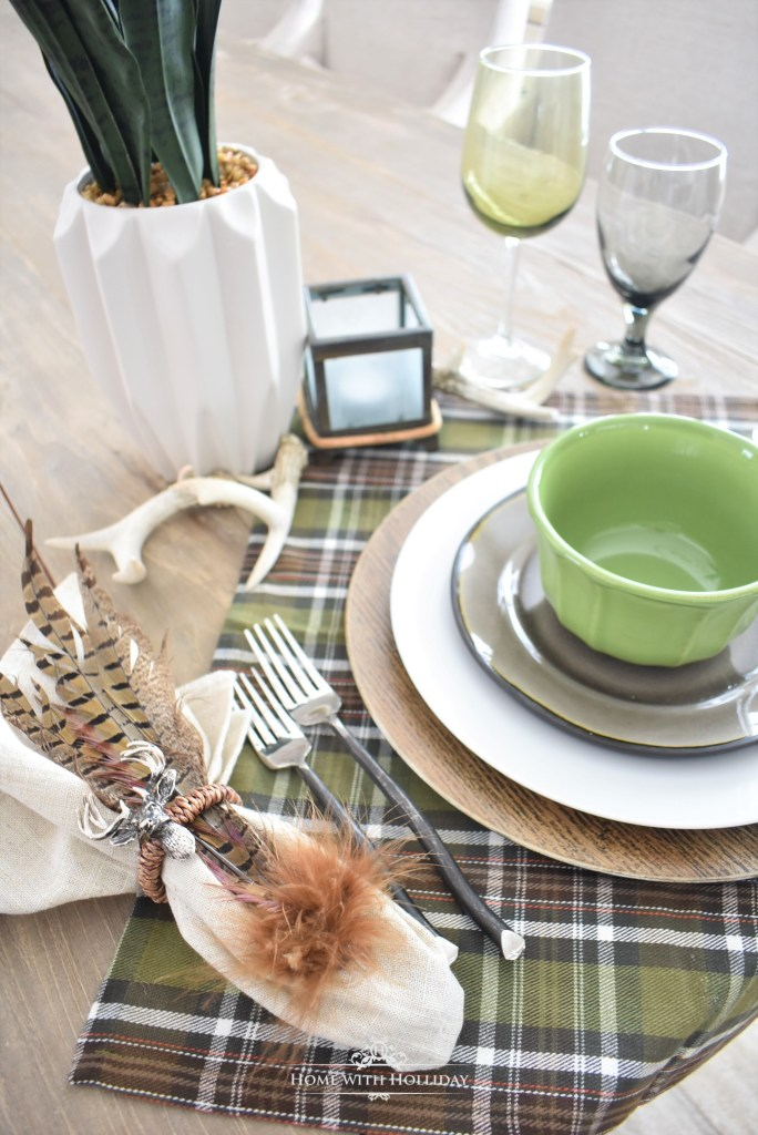 Easy Green Table Setting Ideas - Home with Holliday