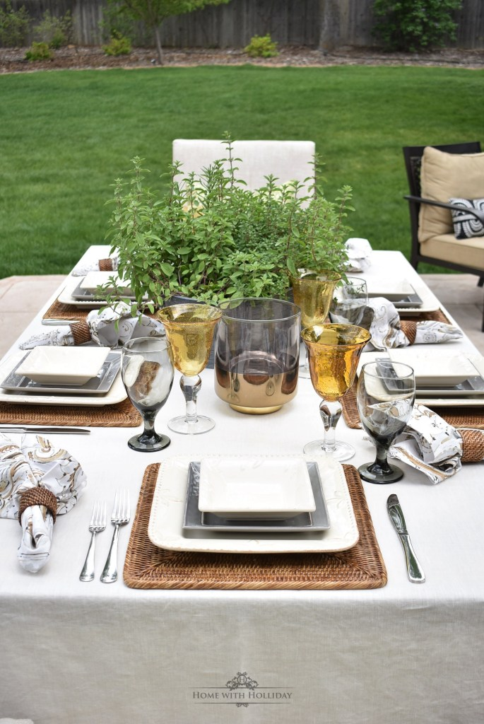 Backyard Alfresco Dinner Party for Father's Day - Home with Holliday
