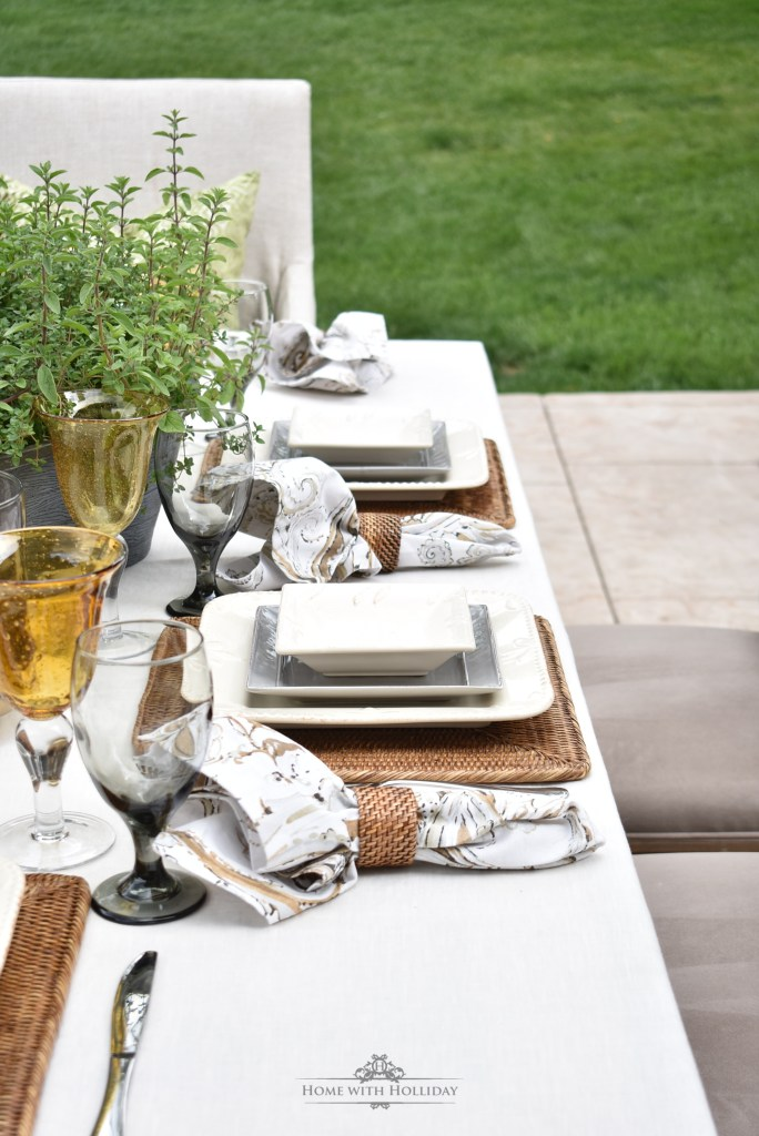 Outdoor Alfresco Dinner Party for Father's Day - Home with Holliday