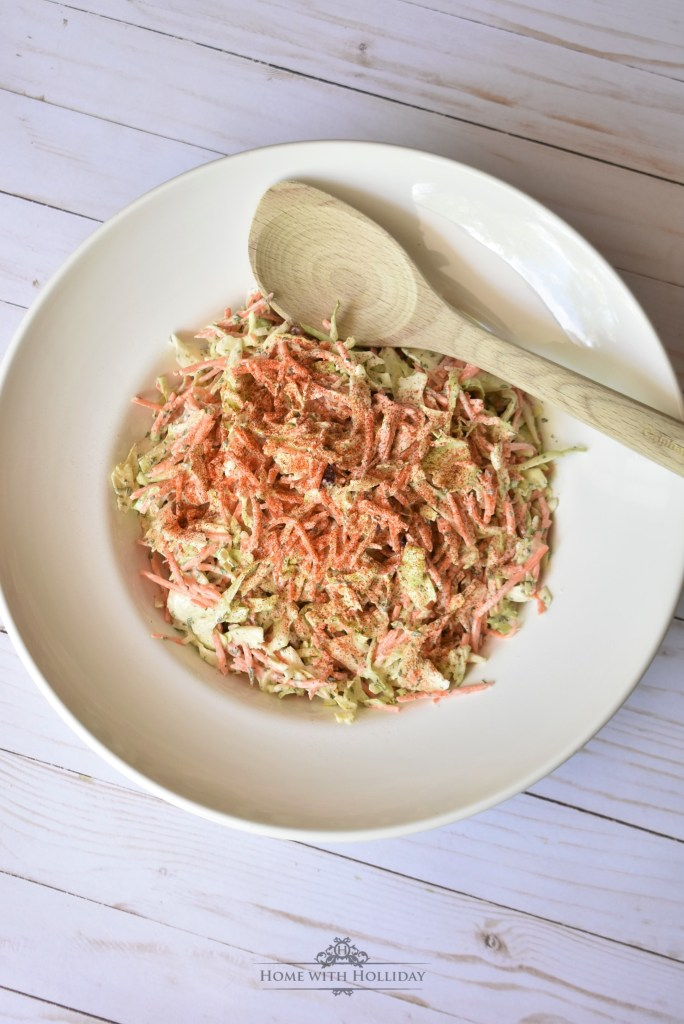 Tangy Garlic Coleslaw - Home with Holliday