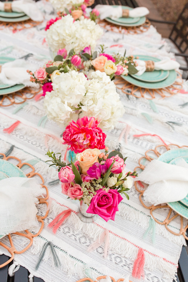 Colorful Backyard Party Ideas: Anthropologie Inspired Dinner Party - Home with Holliday