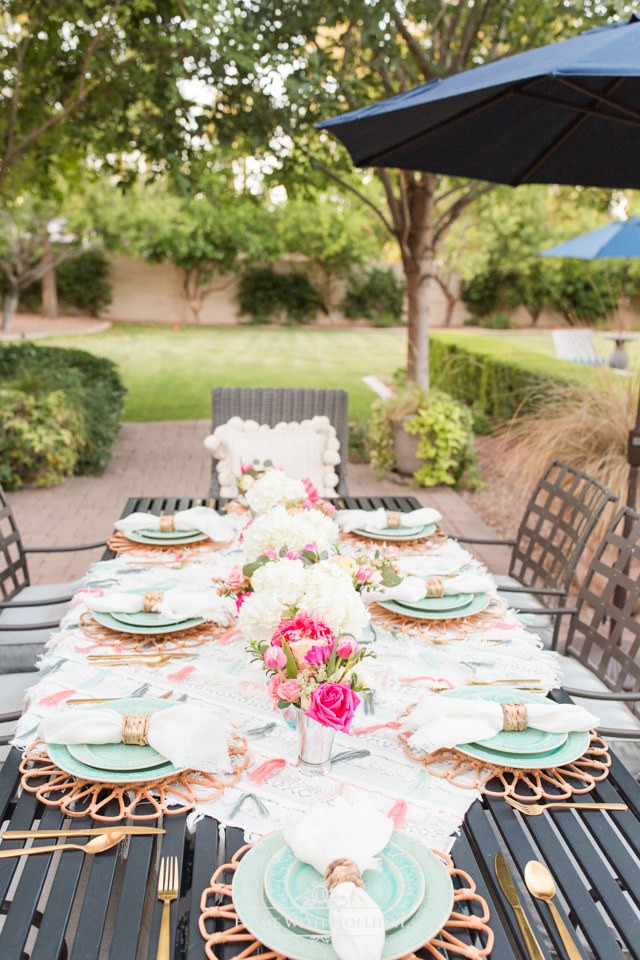 Backyard Party Ideas: Anthropologie Inspired Dinner Party - Home with Holliday