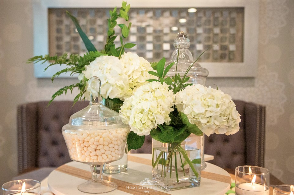 Modern Rustic Bridal Shower Flowers - Home with Hollida