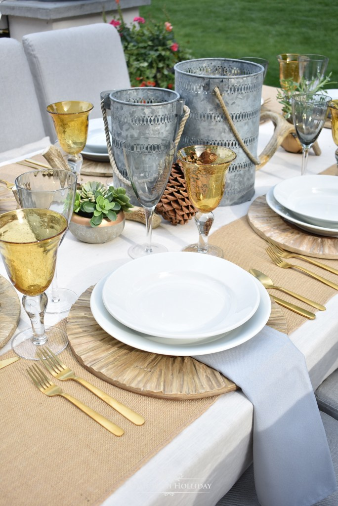 My Rustic Alfresco Summer Table Setting - Home with Holliday