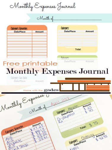 Contemporary Monthly Expenses Journal