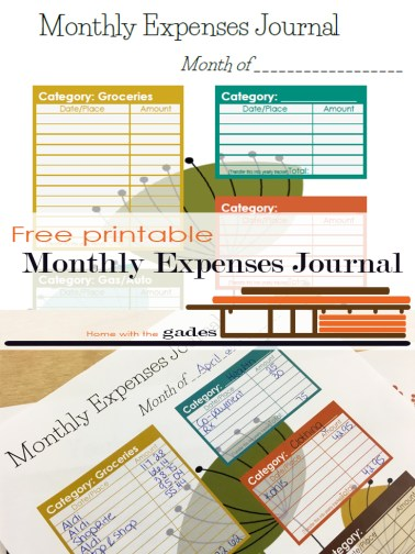 M Monthly Expenses Journal