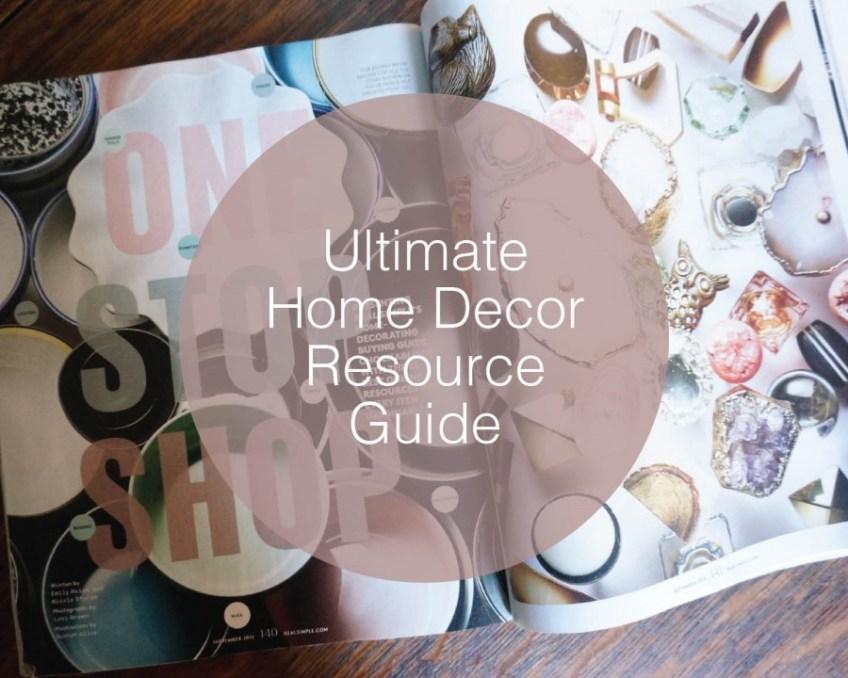 Home Decor Resource Guide | HomeWork Design Co.