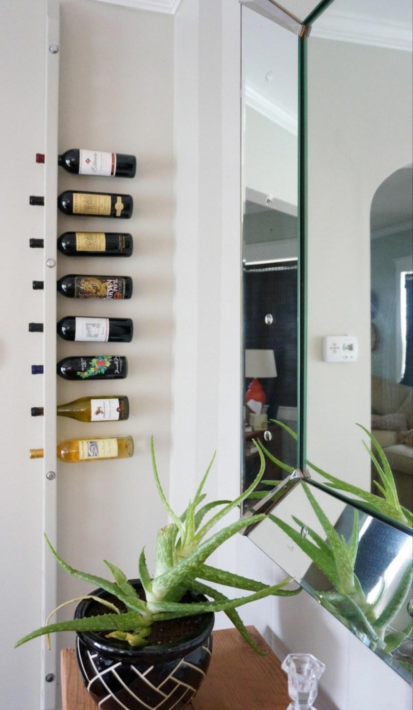 DIY Wall Mounted Wine Rack | HomeWork Design Co.
