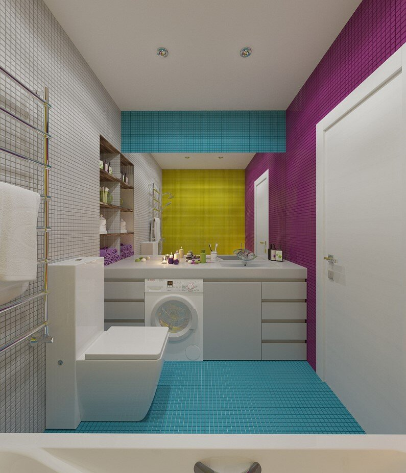 Apartment In Moscow Bright Design Freshness And Playful Colors
