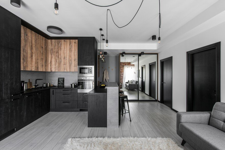 Industrial Modern Apartment In Vilnius Lithuania