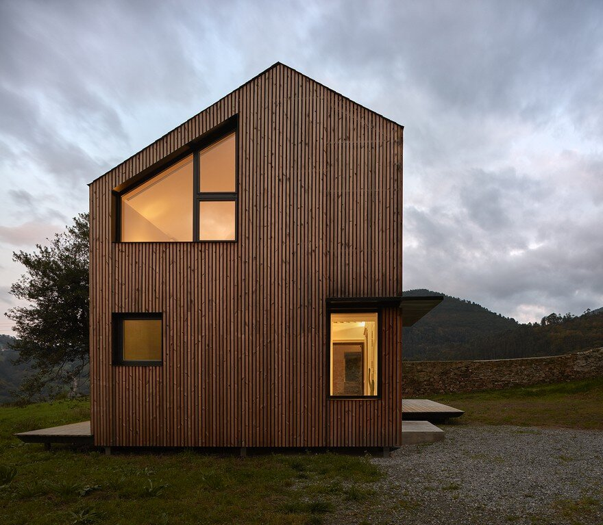 Modern Modular House Assembled In A Factory And Installed